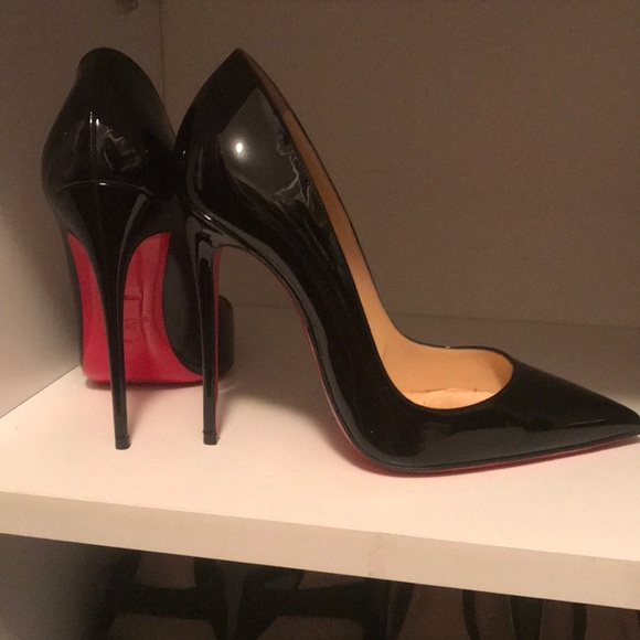 1eba3d2d62a Christian Louboutin So Kate, Black Patent, Size 37